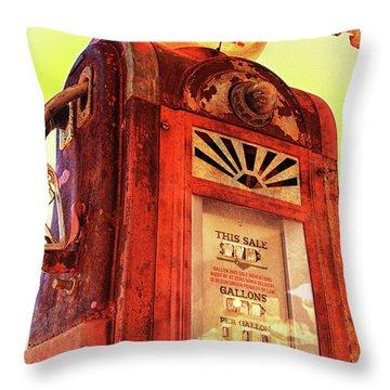 Mobilgas Special - Vintage Wayne Pump Throw Pillow