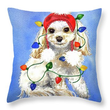 Mocha Merry And Bright Throw Pillow
