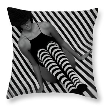 Throw Pillow featuring the photograph Model 1 by Francisco Gomez