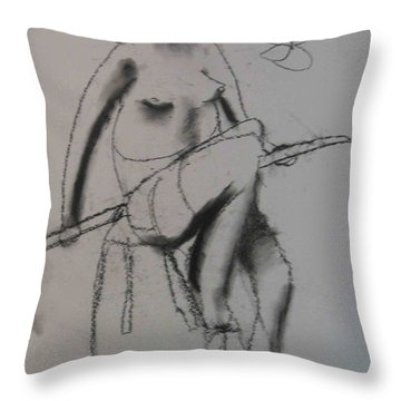 model named Chieh three Throw Pillow