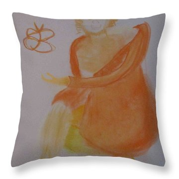 model named Helene three Throw Pillow