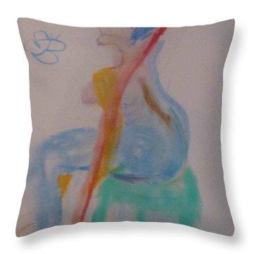 model named Helene two Throw Pillow