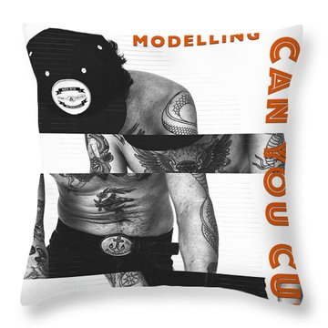 Modelling Can You Cut It? Throw Pillow