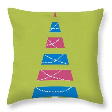 Modern Glam Christmas Tree 3- Art By Linda Woods Throw Pillow
