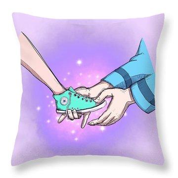 Modern Princess Throw Pillow