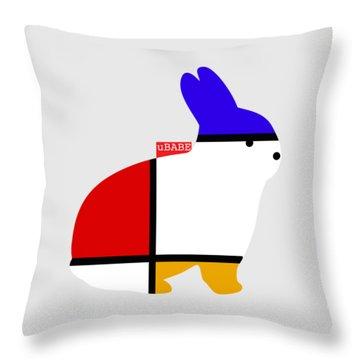 Modern White Throw Pillow