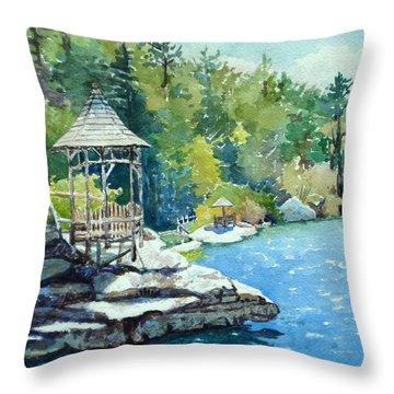 Mira Fink Landscapes Throw Pillows