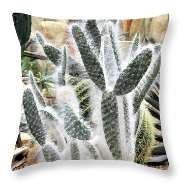 Throw Pillow featuring the photograph Mojave Prickly Pear by James Fannin