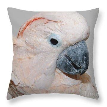 Moluccan Cockatoo Throw Pillow