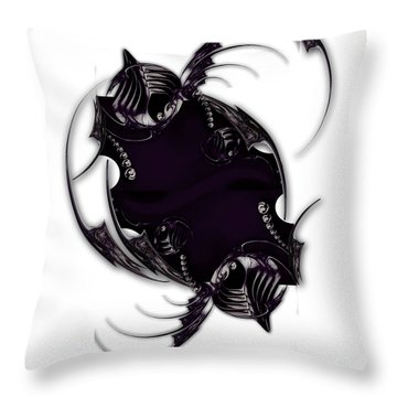 Momentary Impression Of Undefined Abstraction Throw Pillow