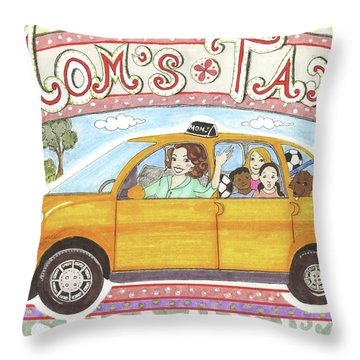 Mom's Taxi Throw Pillow