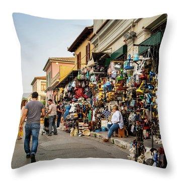 Throw Pillow featuring the photograph Monastiraki  Colours by Juan Contreras