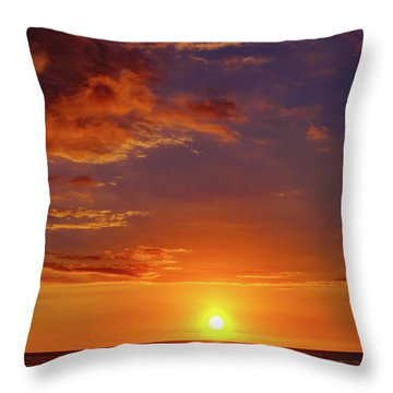Monday Sunset Throw Pillow