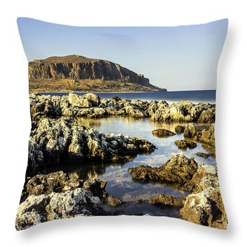 Monemvasia Rock Throw Pillow
