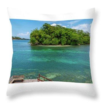 Monkey Island In Portland Jamaica Throw Pillow