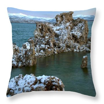 Mono Lake Tufa Towers Sunrise Throw Pillow