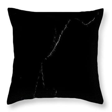 Monochrome Leopard Outline Throw Pillow