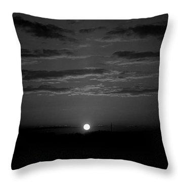 Monochrome Sunrise Throw Pillow