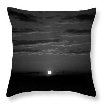 Throw Pillow featuring the photograph Monochrome Sunrise by Bee-Bee Deigner