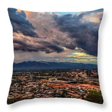 Monsoon Hits Tucson Throw Pillow