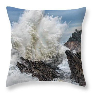 Monster Wave Throw Pillow