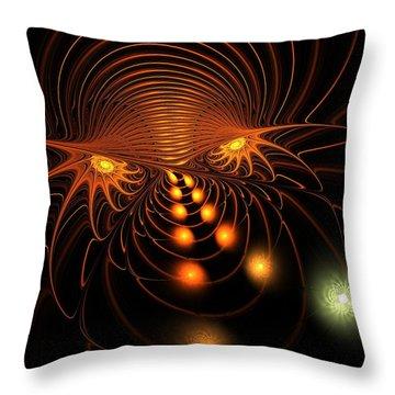 Throw Pillow featuring the digital art Monster's Eyes by Anastasiya Malakhova