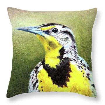 Montana Meadowlark Throw Pillow