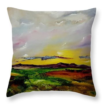 Montana Summer Storms        5519 Throw Pillow