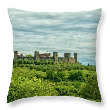 Monteriggioni In Tuscany Throw Pillow