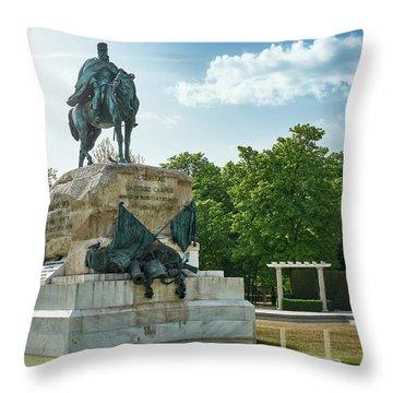 Monument To General Arsenio Martinez Campos In Madrid, Spain Throw Pillow