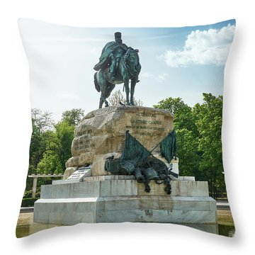 Monument To General Arsenio Martinez Campos In Madrid, Spain Throw Pillow