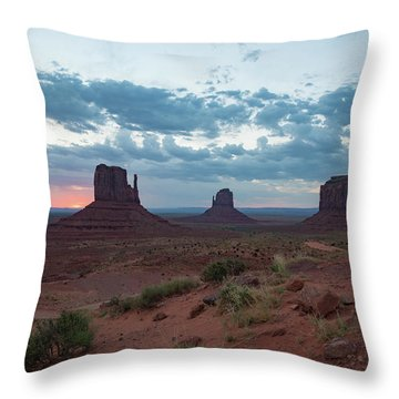 Monument Valley Before Sunrise Throw Pillow