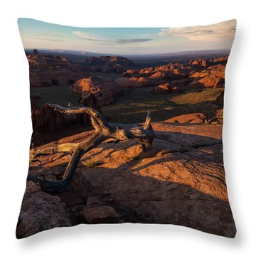 Monument Valley From Hunts Mesa Throw Pillow