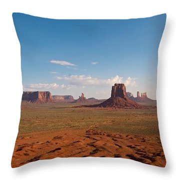 Throw Pillow featuring the photograph Monument Valley by Mark Duehmig