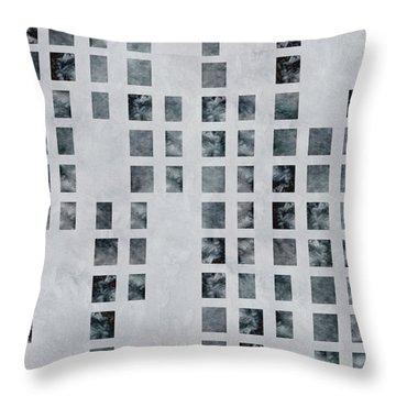 Moody Blues Data Pattern Throw Pillow