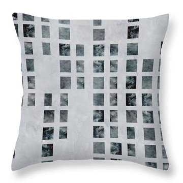 Moody Blues Data Pattern Throw Pillow