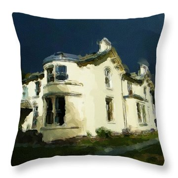 Moody Sky Over Allenbank Painting Throw Pillow