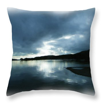 Moody Sky Painting Throw Pillow