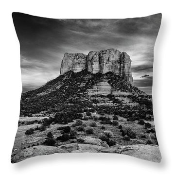 Moody Sunset At The Courthouse Throw Pillow