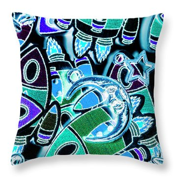 Moon And Beyond Throw Pillow