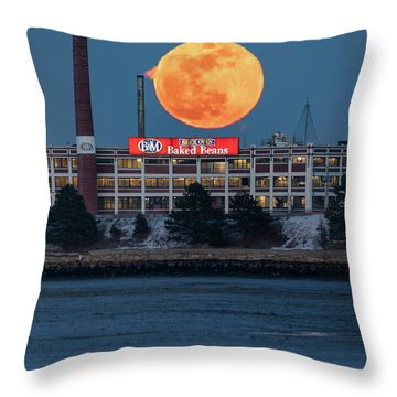 Moon Beans Throw Pillow