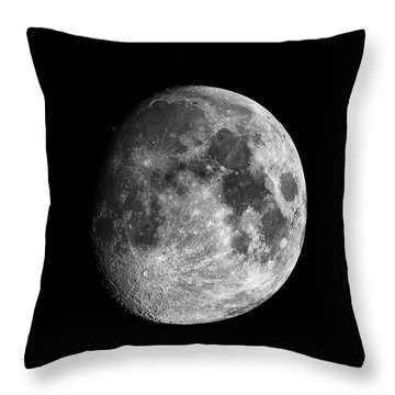 Throw Pillow featuring the photograph Moon by Grant Glendinning