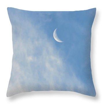 Moon In Libra - Crescent Farewell Throw Pillow