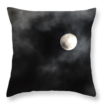 Moon In The Still Of The Night Throw Pillow