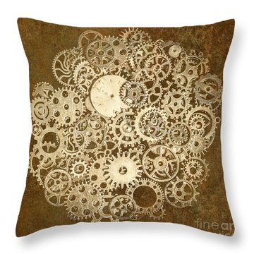 Moon Mechanics Throw Pillow