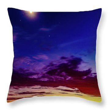 Moon Sky Throw Pillow