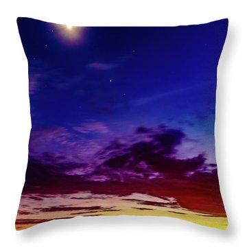 Moon Sky Throw Pillow