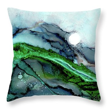 Throw Pillow featuring the painting Moondance I by Kathryn Riley Parker