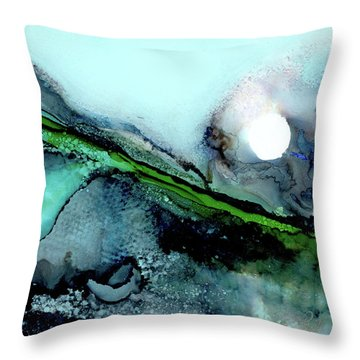 Throw Pillow featuring the painting Moondance II by Kathryn Riley Parker