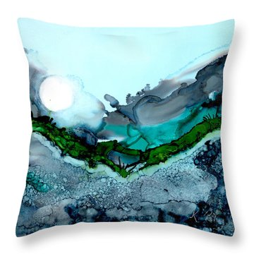 Throw Pillow featuring the painting Moondance IIi by Kathryn Riley Parker
